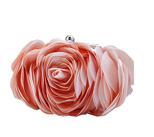Aronvivi - Cartera de mano para mujer rose red(1) talla única champán
