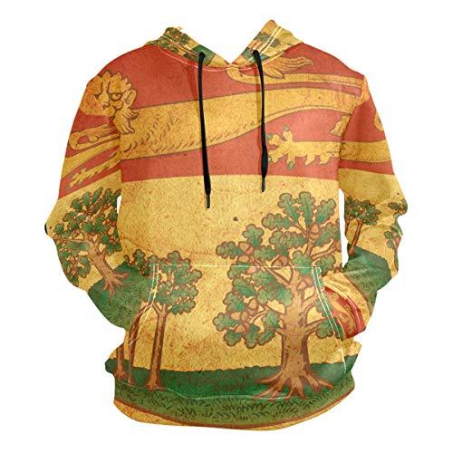 - Vintage Prince Edward Island Provincial Flag Men's Pullover Hooded Sweatshirt
