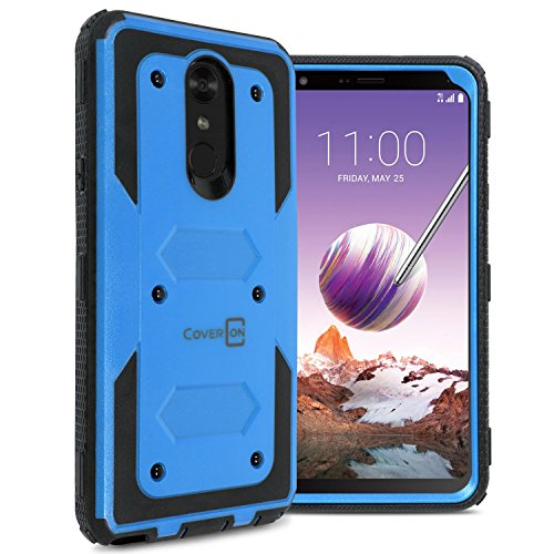 LG Stylo 4 Plus Case, LG Stylo 4 Case, LG Q Stylus Case, CoverON [Tank Series] Protective Full Body Phone Cover with Tough Faceplate for LG Stylo 4 / Q Stylus/Stylo 4 Plus - Blue