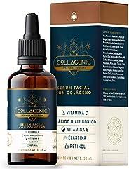Serum Vitamina C + Colágeno, Retinol, Acido Hialuronico   60% MásCantidad vs Suero Común   COLLAGENIC Aclara M