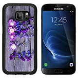 MSD Premium Samsung Galaxy S7 Aluminum Backplate Bumper Snap Case IMAGE ID: 30430755 Beautiful wildflowers on wooden background
