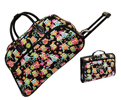 owl-21-rolling-duffel-bag-set-1-duffle-bag-with-1-cosmetic-bag