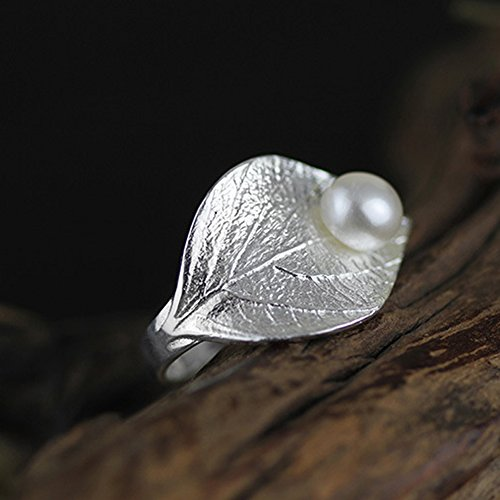 Sterling Silver 925 Freshwater Pearl Adjustable Fine Ring by Luna Ring (Image #2)