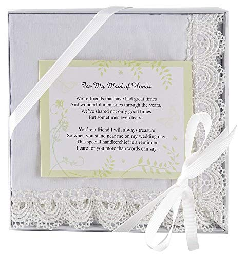 Ganz Wedding Keepsake Bridesmaid Handkerchief (Maid of Honor)