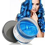Temporary Hair Wax Colour,MOFAJANG 120g Blue Hair Wax Hair Styling Cream for Men Women Coloring Wax