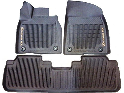 LEXUS OEM FACTORY ALL WEATHER FLOOR MAT LINER SET 2016-2017 RX350 & RX450H (BROWN)