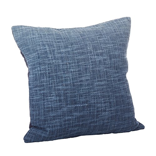 """Price comparison product image SARO LIFESTYLE Lancaster Collection Ombre Design Down Filled Cotton Throw Pillow/0009.NB20S, 20"""", Navy Blue"""