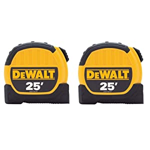 "Dewalt Tape Measure 1-1/8 "" X 25 ' Pack of 2"
