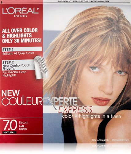 L'Oréal Paris Couleur Experte Hair Color + Hair Highlights, Dark Blonde - Biscotti