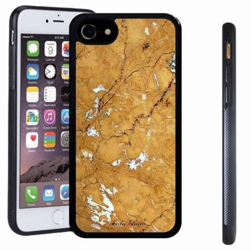 iphone 7 case, SoloShow(R) Slim Shockproof TPU Soft Case Rubber Silicone for Apple iphone 7 [Gold] -