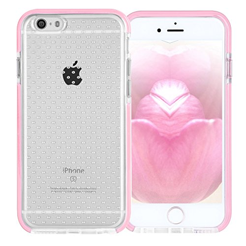 iPhone 6S Plus Case,FYY[Patent Shockproof][Military Material]Ultra Slim Fit Hybrid Clear Bumper Case Soft Silicone Gel Rubber Shockproof Impact Resistance Cover for iPhone 6S/6 Plus(5.5 inch)Rose Gold