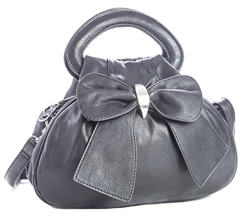Bow Black Pockets 24x22x13 The Zippers Front Detail With Bag With wxhxd Large Multiple And Small Cm Bhbs On vwBqgg