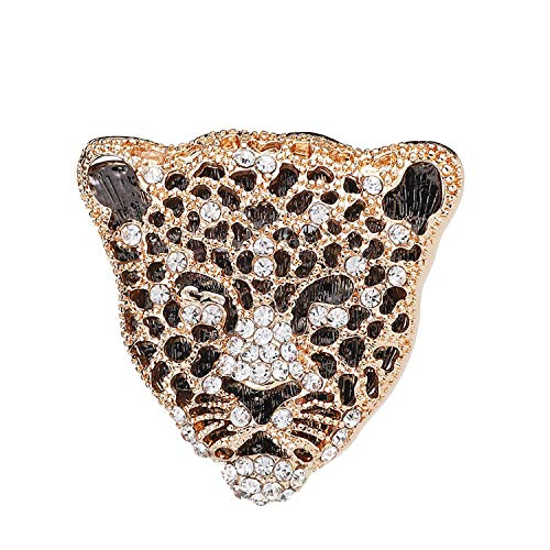 HUILAIKE Punk Retro Cheetah Brooch Pin Men Women Costume Decoration Gold Tone Unique Lapel Pin Jewelry