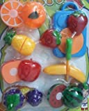 Stuff Jam Realistic Sliceable Fruits Cutting Play Toy Set with Velcro, Multi Color