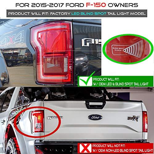 For 2015 2016 2017 2018 Ford F150 w/Blind Spot Sensor Black Full ...