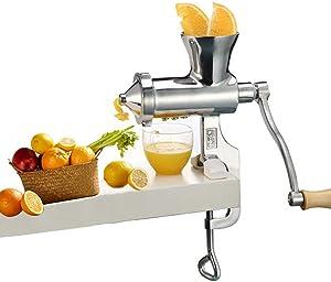 Manual OrangeJuicer Extractor Lemon LimeCitrus Juice HandSqueezer Press Mini Heavy Duty Stainless Steel Metal Wheatgrass Juicer