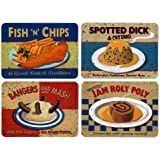 Set of 4 Martin Wiscombe Placemats - Nostalgic Food Design