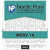Nordic Pure 20x25x5 Lennox X6675 Replacement MERV 14 Furnace Air Filter, Quantity 4