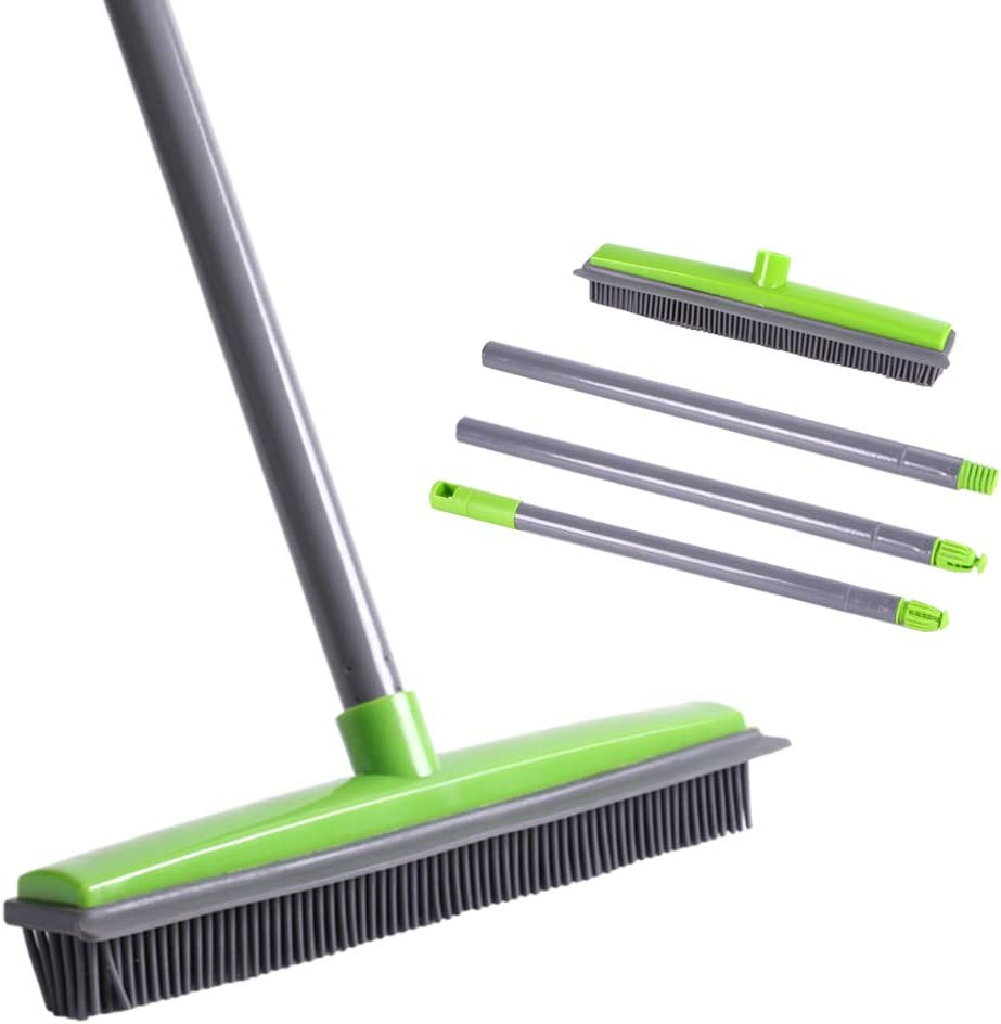 Soft Sweep Brooms 4 Pink, 4 Purple, 4 Yellow - Soft as a Kitten 12 Pack of Brooms Made in The USA