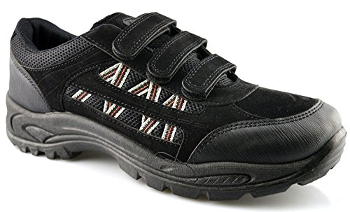 Trail 6 Walking Shoes Fastening New 13 Black Boots Dek Hiking Size Touch Trainers Mens IZfwnTa