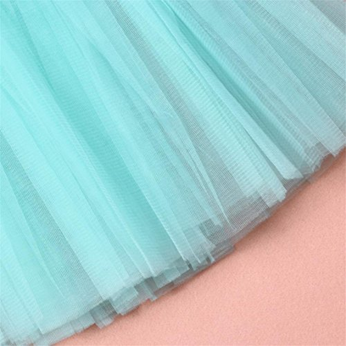 Dancing mesh Skirt Half Pleated Gauze Waist Hot Womens Solid Dress Sale Tutu Blue TIFENNY Adult Light Mesh High vqq0w8Y6