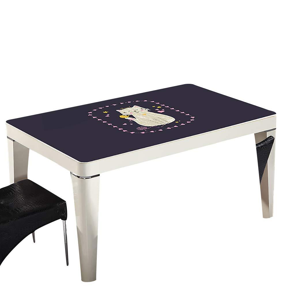 テーブルクロスソフトグラスPVC 70x120cm防水アンチホットアンチオイル簡単クリーンテーブルプロテクターコーヒーティーテーブルマットプラスチックテーブルクロス (サイズ さいず : 70x130cm) 70x130cm  B07S3TCNNS