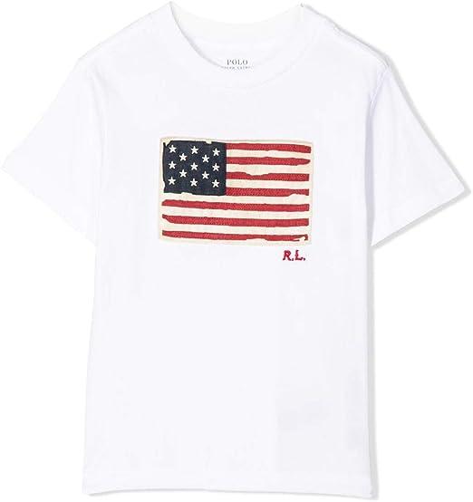 Polo Ralph Lauren - Camiseta Bandera NIÑO (8 AÑOS): Amazon.es: Ropa y accesorios