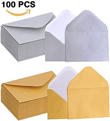Amazon.com: Supla 100 pcs Tarjeta de regalo sobres de, en ...