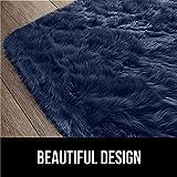 Gorilla Grip Premium Faux Fur Area Rug, 2x8