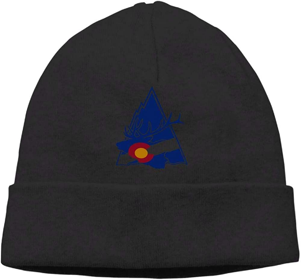 Colorado Elk Mountain Beanie Hat Skull Caps Male Slouchy Soft