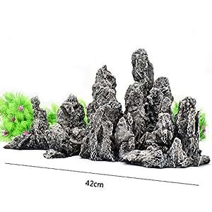 Pet Online Adornos de acuario dragón resina piedra Rey Rey Rock del Grupo Acuario decoración, 42 * 19 * 21,5cm.: Amazon.es: Productos para mascotas