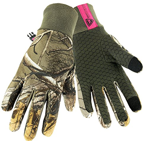 West Chester RE93011 Cold Weather Utility Work Gloves with Fleece Lining and Silicone Palm Grip: Realtree Xtra Camo, Women's Large, 1 Pair