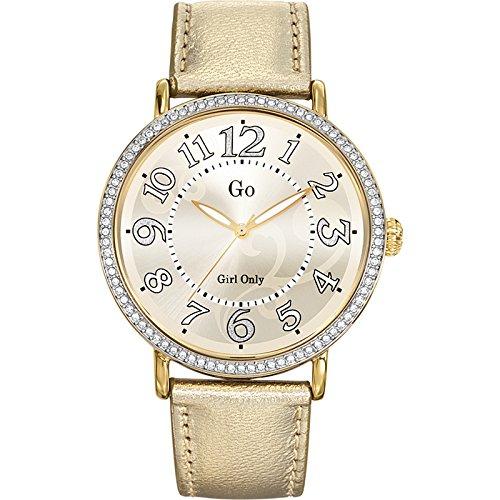 Go Girl Only 698251 - Reloj analógico de cuarzo para mujer, correa de cuero color dorado: Amazon.es: Relojes