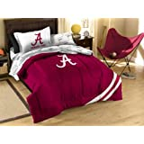 NCAA Twin Size Bedding Set with Applique Comforter