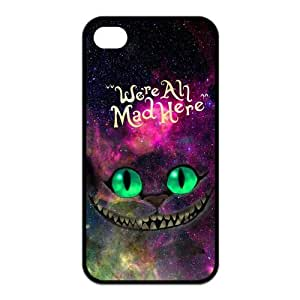 Nebula Galaxy Space Cheshire Cat Protective Rubber Cover Case for iPhone 4,iPhone 4s Cases