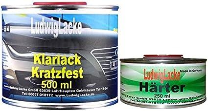 0 75 Liter Ms Klarlack Matt Set 0 5 Klarlack 0 25 Härter Autolack Made In German Auto