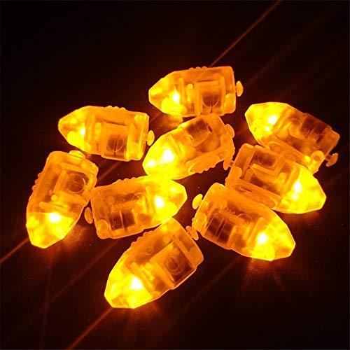 Pausseo 50Pcs LED Lamp Glowing Balloon Lights Kit for Paper Lantern Birthday Merry Christmas Gift Santa Claus Snowman Reindeer Children Toy Doll DIY Set Xmas Festival Art Home Decor (Yellow)]()