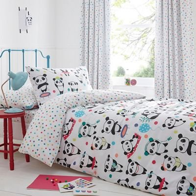 Debenhams Childrens Kids' White 'Pandas' Reversible Single Duvet Cover And Pillow Case Set single set bluezoo