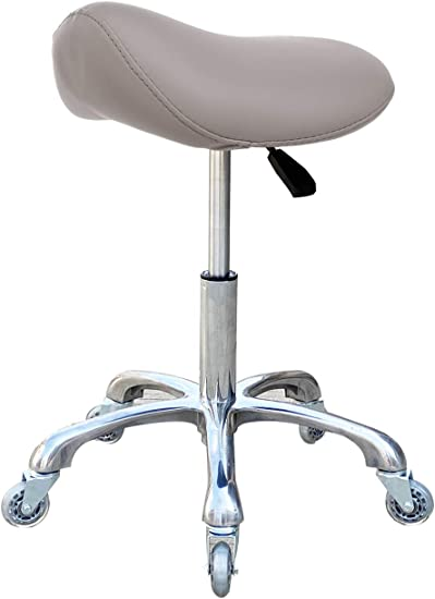FRNIAMC Taburete ajustable con respaldo ergonómico para clínica médica, hospital, laboratorio, farmacia, estudio, taller, oficina y hogar. (sin
