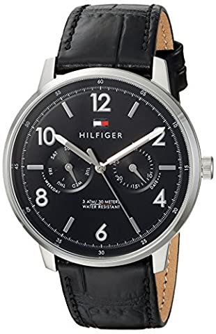 Tommy Hilfiger Men's 'Sophisticated Sport' Quartz Stainless Steel and Leather Casual Watch, Color:Black (Model: (G Shock Gloss)