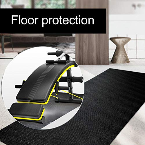 Yunhigh Health & Fitness Exercise Equipment Mat – Treadmill Mat, Exercise Bike Mat, Fitness Mat, Elliptical Mat, Jump Rope Mat, Gym Mat Use On Hardwood Floors and Carpet Protection