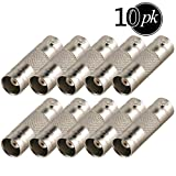 Yeung Qee 10 Pack BNC female to BNC female coupler Connector adapter for CCTV Security Camera (BNC female to female connector)