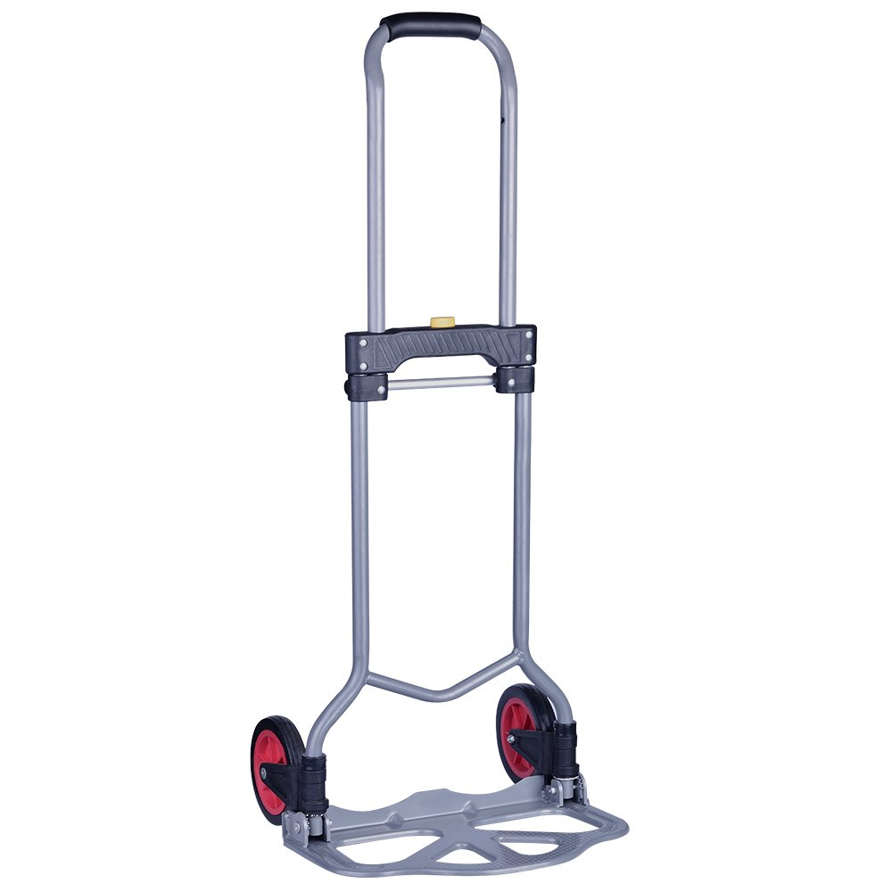 Portable Aluminum 2 Wheel Folding Hand Truck Dolly Coocheer Heavy Duty Luggage Rolling Cart Personal 150 lbs Capacity