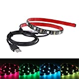 Docooler 0.5M SMD5050 Waterproof flexible USB LED Light Strip with 15-LED RGB Color Changing