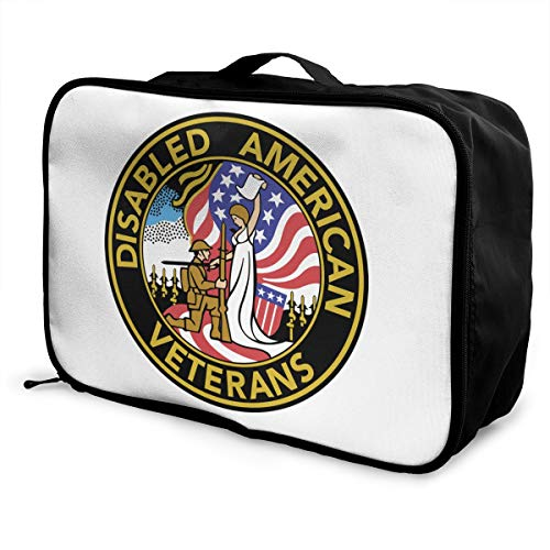 Disabled American Veterans Lightweight Large Capacity Portable Luggage Bag Fashion Travel Duffel Bag