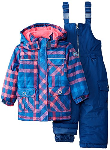 Rugged Bear Little Girls' Toddler Snowsuit with Plaid Coa...