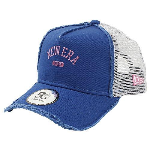 (ニューエラ) NEW ERA ゴルフ メッシュキャップ 9FORTY Aフレーム COLLEGE 1920 ブルーアズール/ホワイト ダメージ加工 GOLF FREE (サイズ調整可能)