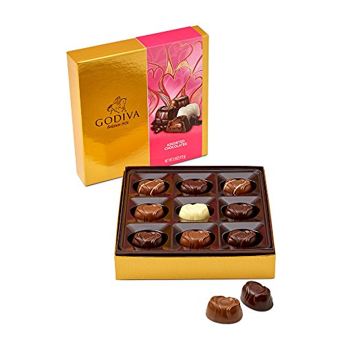 Godiva Chocolatier 9 Piece Valentine's Day Assorted Chocolates Gift Box