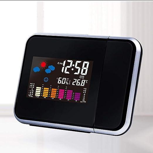 mubgo Relojes De Pared Reloj Despertador De Proyección Digital ...