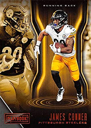 c65a9d606f6 2018 Playbook Orange Parallel Football  100 James Conner Pittsburgh Steelers  Official NFL Card Produced by